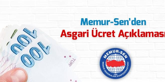 Memur-Sen: Asgari Ücret Büyük Türkiye Hedefine Yakışmıyor