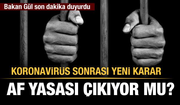 Af Yasası Geliyor mu? Adalet Bakanı Abdülhamit Gül'den Açıklama!