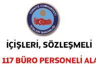 İçişleri Bakanlığı Bin 117 Sözleşmeli Büro Personeli Alım İlanı