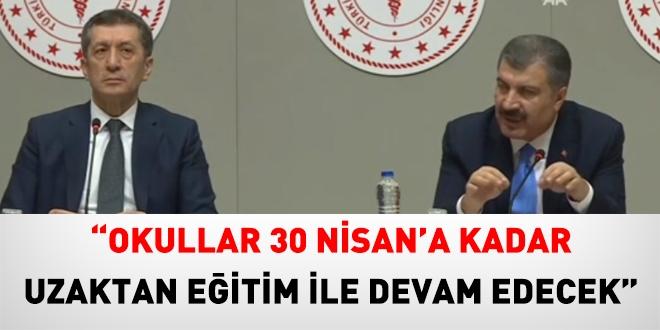 """Bakan Selçuk: """"30 Nisan'a Kadar Okullar Uzaktan Eğitim İle Devam Edecek"""""""